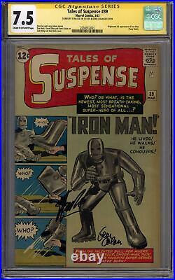 Tales of Suspense #39 Stan Lee Gene Colan Sig Series CGC 7.5 (C-OW) 1st Iron Man