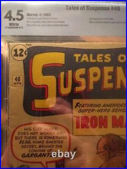 Tales of Suspense #40 CBCS 4.5 WHITE (Like CGC) 2nd Iron Man 1st Gold Armor