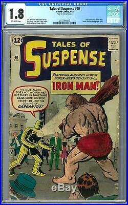 Tales of Suspense #40 CGC 1.8 (OW) 2nd Appearance of Iron Man