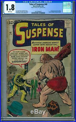 Tales of Suspense #40 CGC 1.8 (W) 2nd Appearance of Iron Man
