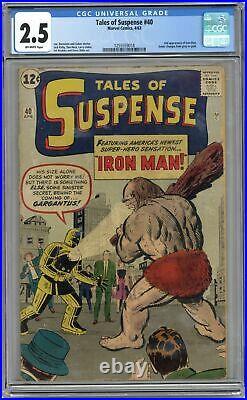 Tales of Suspense #40 CGC 2.5 1963 1255559018