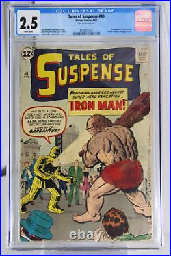 Tales of Suspense #40 CGC 2.5 2nd app of Iron Man. Armor changes from grey t