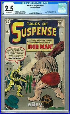 Tales of Suspense #40 CGC 2.5 (OW) 2nd Appearance of Iron Man