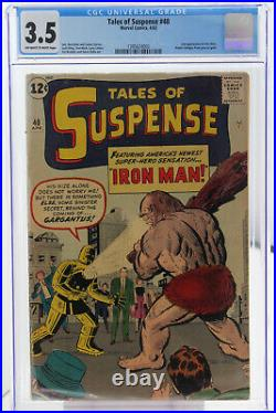Tales of Suspense # 40 CGC 3.5 2nd app of Iron Man. Armor changes grey to gold