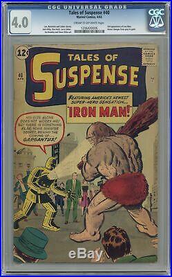 Tales of Suspense #40 CGC 4.0 1963 1206430006