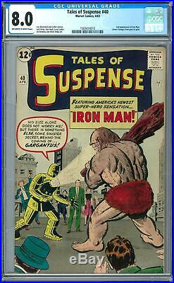 Tales of Suspense #40 CGC 8.0 (OW-W) 2nd App of Iron Man