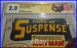 Tales of Suspense #40 CGC SS Signature Autograph STAN LEE 2nd Iron Man Gold Grey