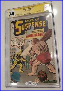 Tales of Suspense #40 Comic CGC 3.0 Signed Stan Lee Marvel 1963 2nd Iron Man