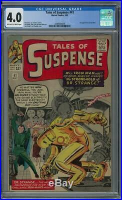 Tales of Suspense #41 CGC 4.0 (OW-W) 3rd app of Iron Man