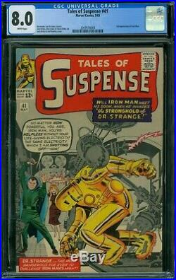 Tales of Suspense 41 CGC 8.0 White Pages