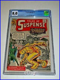 Tales of Suspense #41 CGC 8.0 White pages Marvel 3rd Appearance Iron Man 1963