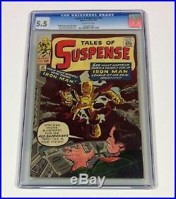 Tales of Suspense #42 CGC 5.5 (small crack right low corner of case) 1963 Marvel