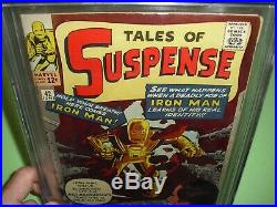 Tales of Suspense #42 CGC 6.5 with OWithW pages from 1963! Iron Man not CBCS