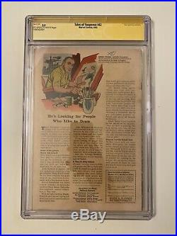 Tales of Suspense #42 (Jun 1963, Marvel) CGC 3.0 Signed By Stan Lee Iron Man
