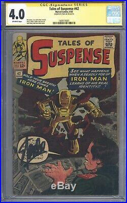 Tales of Suspense #42 Vol 1 CGC 4.0 Signature Series Signed by Stan Lee