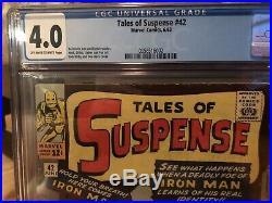 Tales of Suspense 42 cgc 4.0 Marvel 6/63