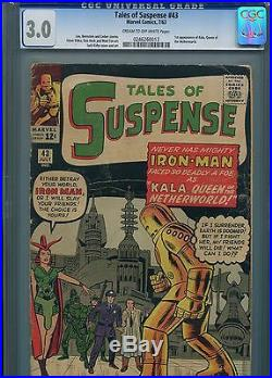 Tales of Suspense #43 (1st Kala) CGC 3.0 C-OWP