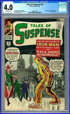 Tales of Suspense #43 CGC 4.0 (OW)
