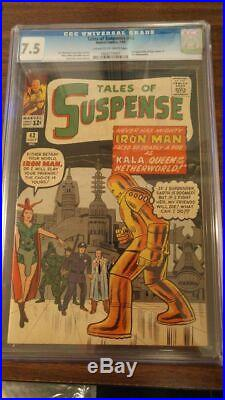 Tales of Suspense #43 CGC 7.5 5TH APPEARANCE OF IRON MAN + 1ST KALA! NICE COPY
