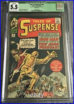 Tales of Suspense #44 (Aug 1963, Marvel Comics) CGC 5.5 FN- Iron Man
