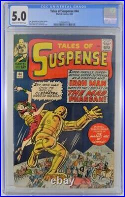 Tales of Suspense #44 CGC 5.0 Steve Ditko Iron Man Appearance