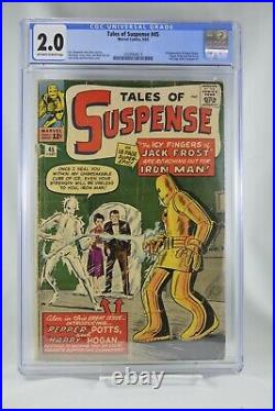 Tales of Suspense #45 CGC 2.0 Iron Man Happy Hogan 1963