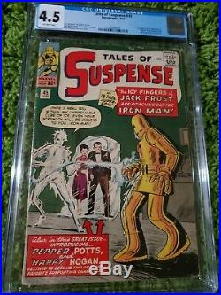 Tales of Suspense #45 CGC 4.5 1st app. Of Happy Hogan, Pepper. Early Iron Man