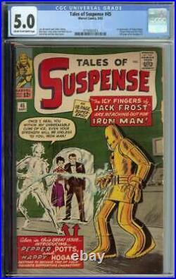 Tales of Suspense #45 CGC 5.0 1st App Pepper Potts Happy Hogan