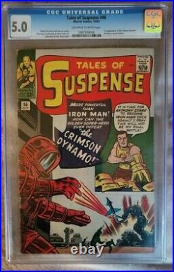 Tales of Suspense #46 CGC 5.0 1st App Crimson Dynamo Old label Unpressed