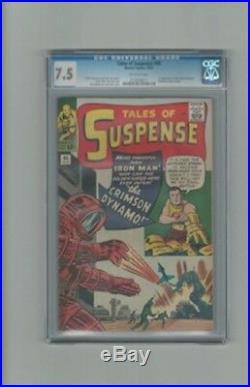 Tales of Suspense #46 Iron Man Marvel CGC 7.5 OW Pages 1st Crimson Dynamo