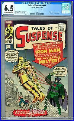 Tales of Suspense #47 CGC 6.5 (OW-W) Origin and 1st Appearance of the Melter