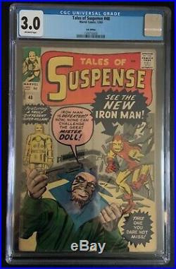Tales of Suspense #48 CGC 3.0 1st Yellow & Red Iron Man costume