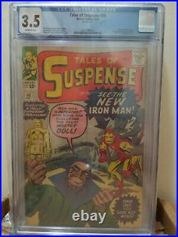 Tales of Suspense 48 CGC 3.5 1st Appearance RED GOLD ARMOR IRON MAN DITKO MARVEL