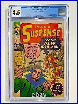 Tales of Suspense #48 CGC 4.5 OW. New Iron Man Armor