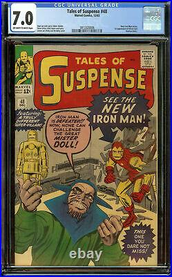 Tales of Suspense #48 CGC 7.0 OWithW 1st Red Iron Man Suit by Steve Ditko
