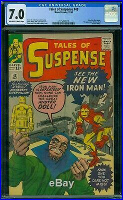 Tales of Suspense 48 CGC 7.0 OWithW Pages
