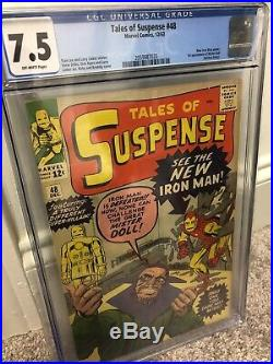 Tales of Suspense #48 CGC 7.5 OW pages 1963! 1st Red Armor Iron man
