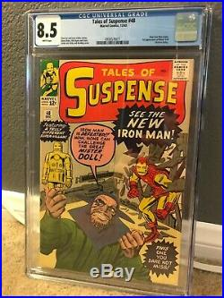 Tales of Suspense 48 CGC 8.5 (White Pages!)