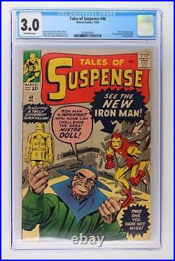 Tales of Suspense #48 Marvel 1963 CGC 3.0 New Iron Man armor