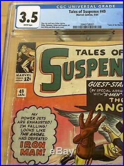 Tales of Suspense 49 CGC 3.5 Iron Man First X-Men Crossover! Movie SOON MP