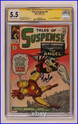 Tales of Suspense #49 CGC 5.5 SS Stan Lee 1513037006