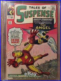 Tales of Suspense 49 CGC 9.4 NM 1st X-Men Crossover! 2nd Red Armor Iron Man 1964