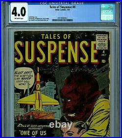 Tales of Suspense #4 CGC 4.0 Silver Age Atlas Comic Amricons 1959 K20