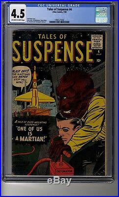 Tales of Suspense # 4 CGC 4.5 OWithWhite Pages The Invisible Army