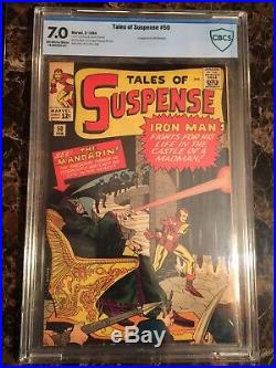 Tales of Suspense #50 CBCS 7.0 OWithW 1st Mandarin LOOKS NICER! MOVIE COMING