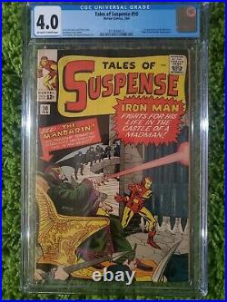 Tales of Suspense #50 CGC 4.0 1964 OWithW 1st app. Mandarin NICE! Iron Man