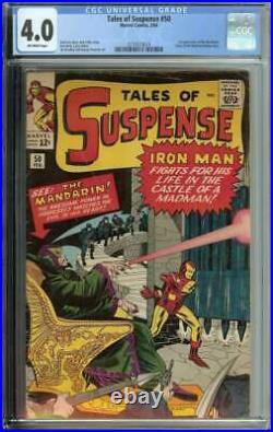 Tales of Suspense #50 CGC 4.0 1st App the Mandarin Iron Man