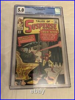 Tales of Suspense #50 CGC 5.0 1st MANDARIN App OW to White Pages
