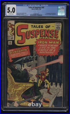 Tales of Suspense #50 CGC 5.0 OW Pgs Iron Man 1st Appearance The Mandarin Marvel