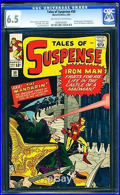 Tales of Suspense 50 CGC 6.5 Silver Age key Comic 1st Mandarin L@@K